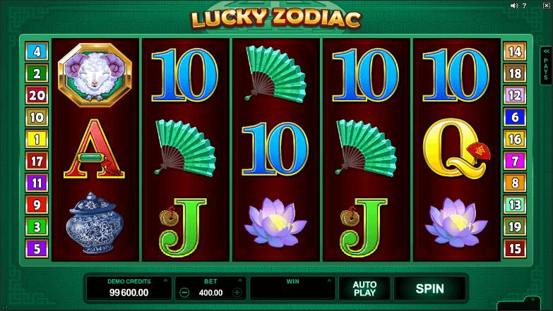 lucky zodiac slot sreenshot