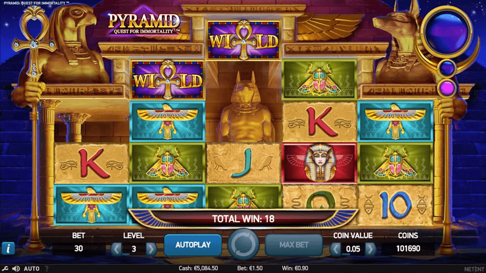Pyramid Quest for Immortality slot screenshot