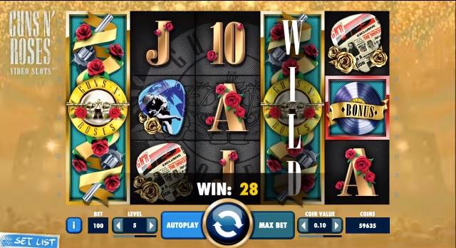 guns n roses slot screenshot