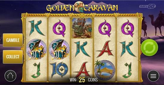 golden caravan slot big screen